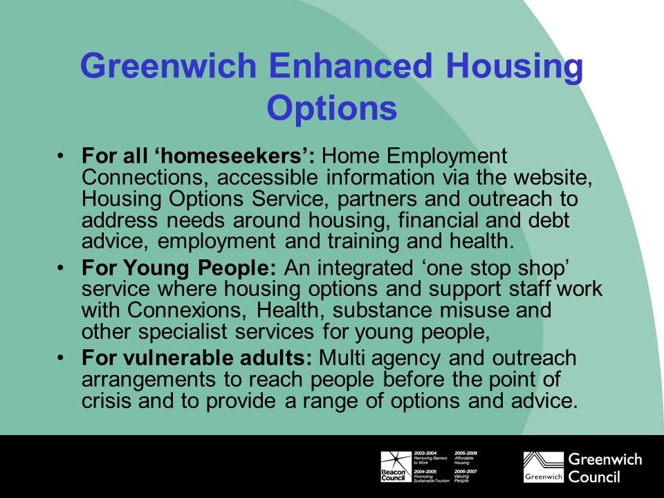 Greenwich Enhanced Housing Options