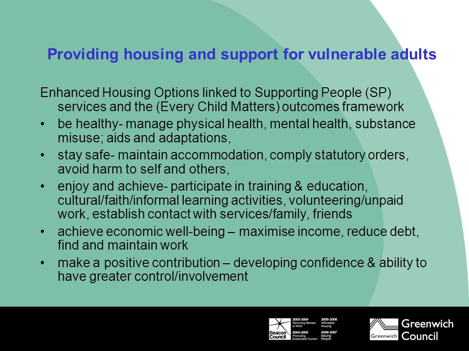 Providing housing and support for vulnerable adults