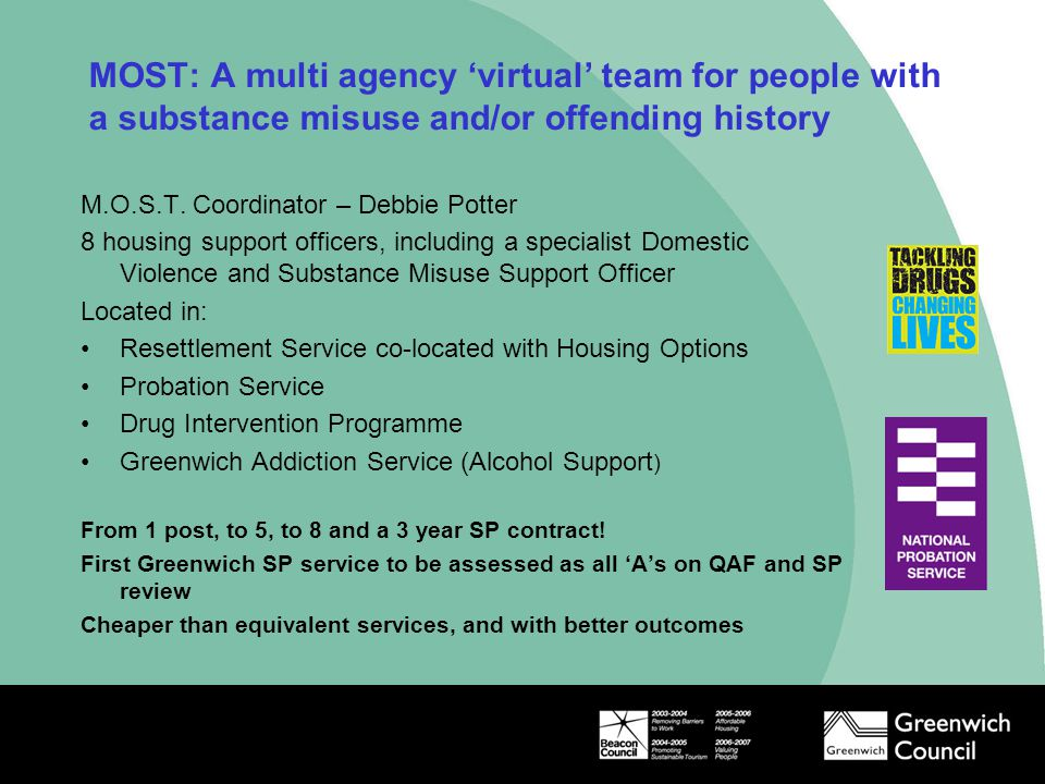 MOST: A multi agency 'virtual' team for people with a substance misuse and/or offending history