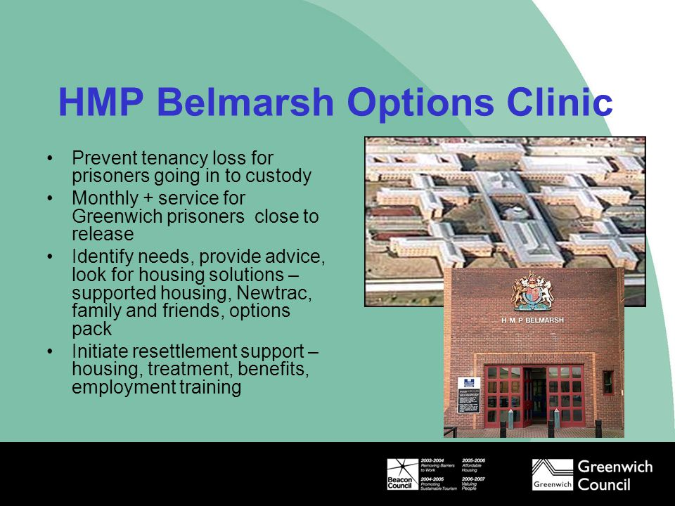 HMP Belmarsh Options Clinic