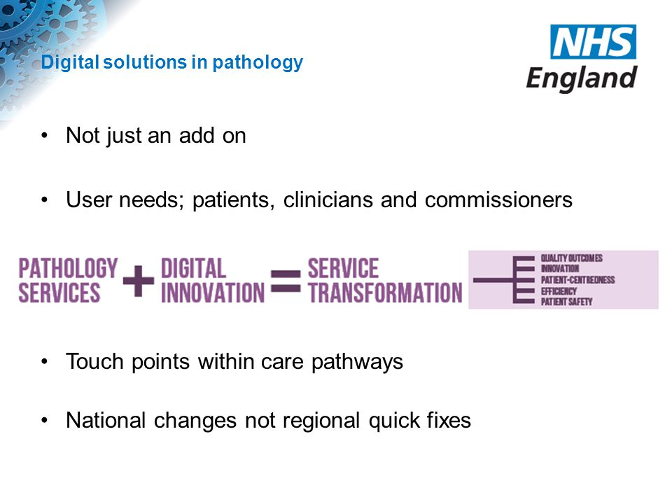 Digital solutions in pathology