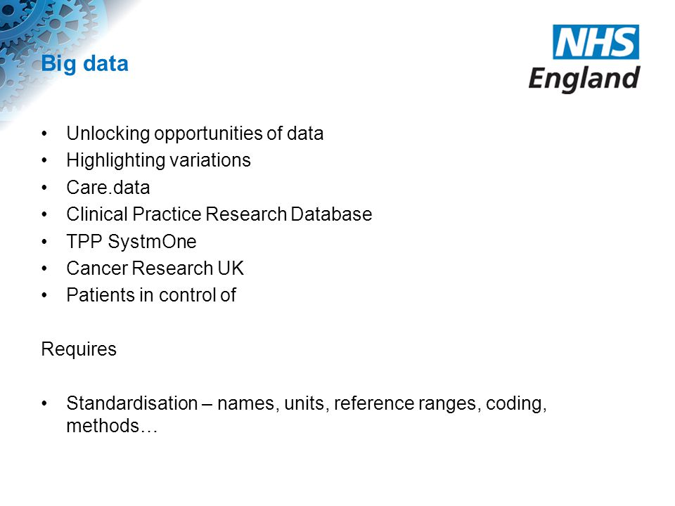 Big data Unlocking opportunities of data Highlighting variations