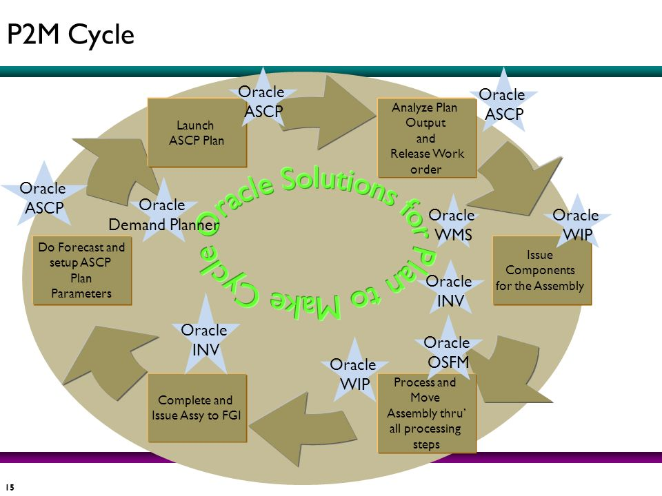 Oracle Solutions for Plan to Make Cycle P2M Cycle Oracle ASCP Oracle