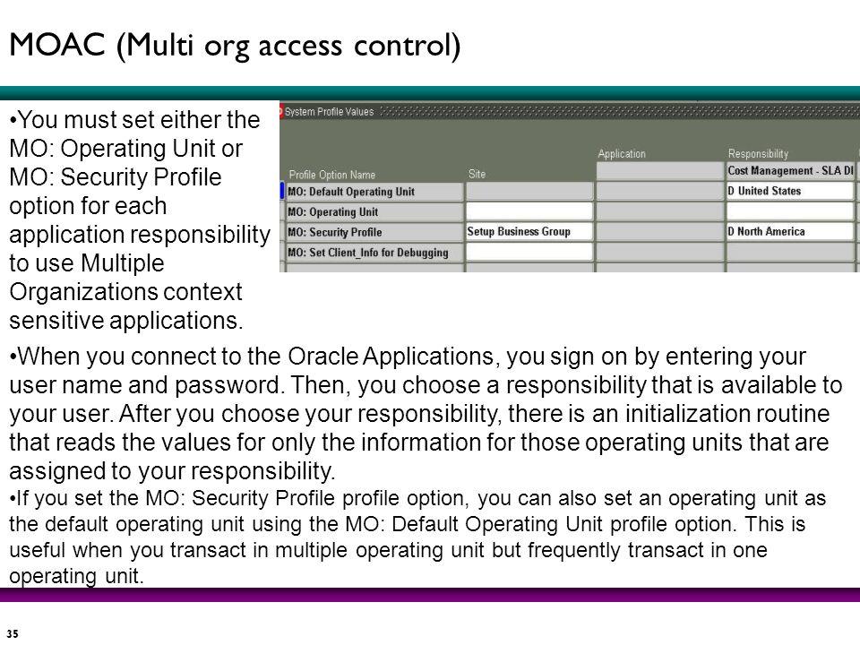MOAC (Multi org access control)