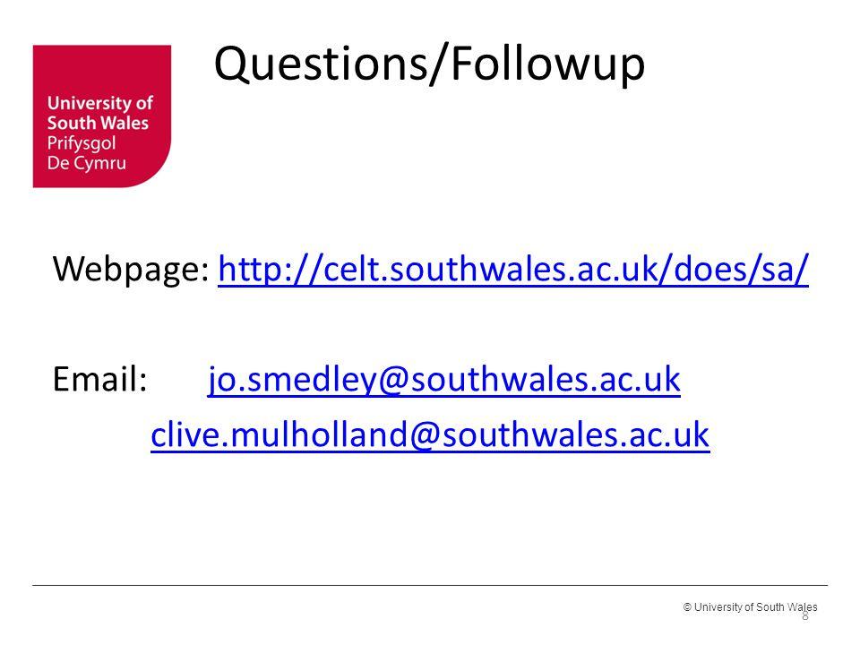 Webpage: http://celt.southwales.ac.uk/does/sa/