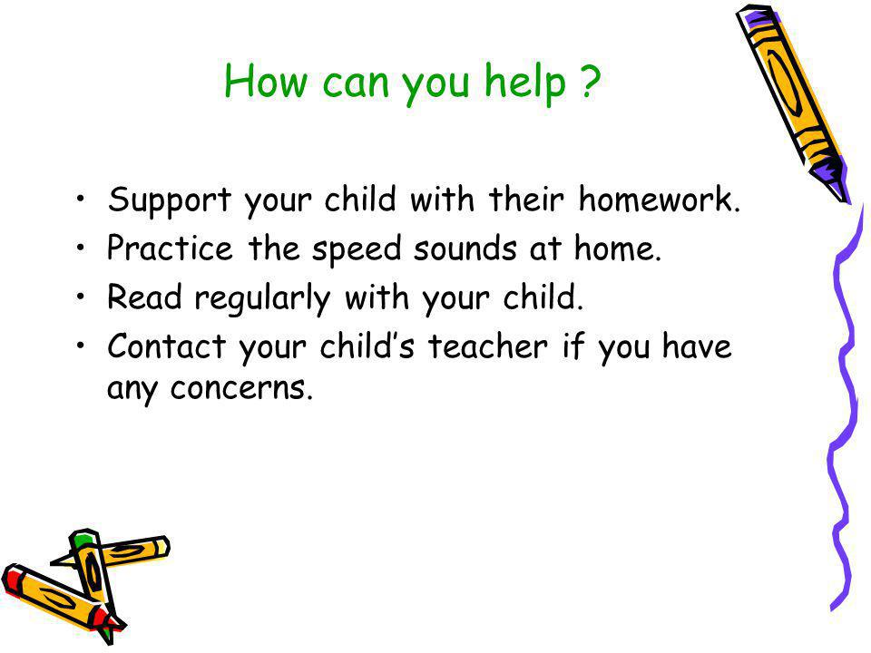 How can you help Support your child with their homework.