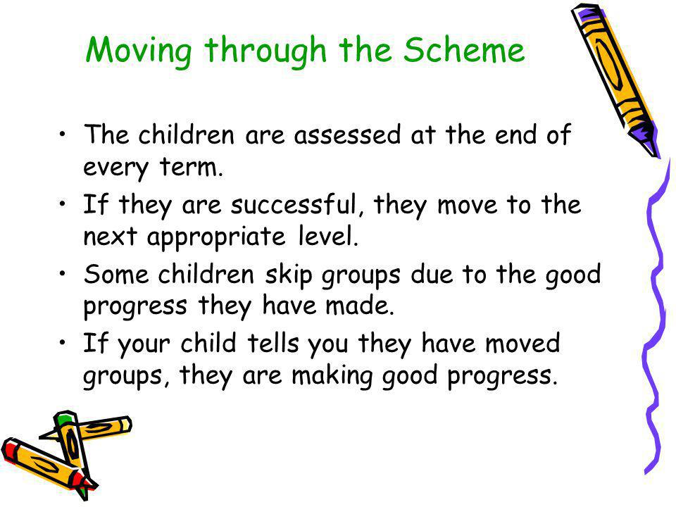 Moving through the Scheme
