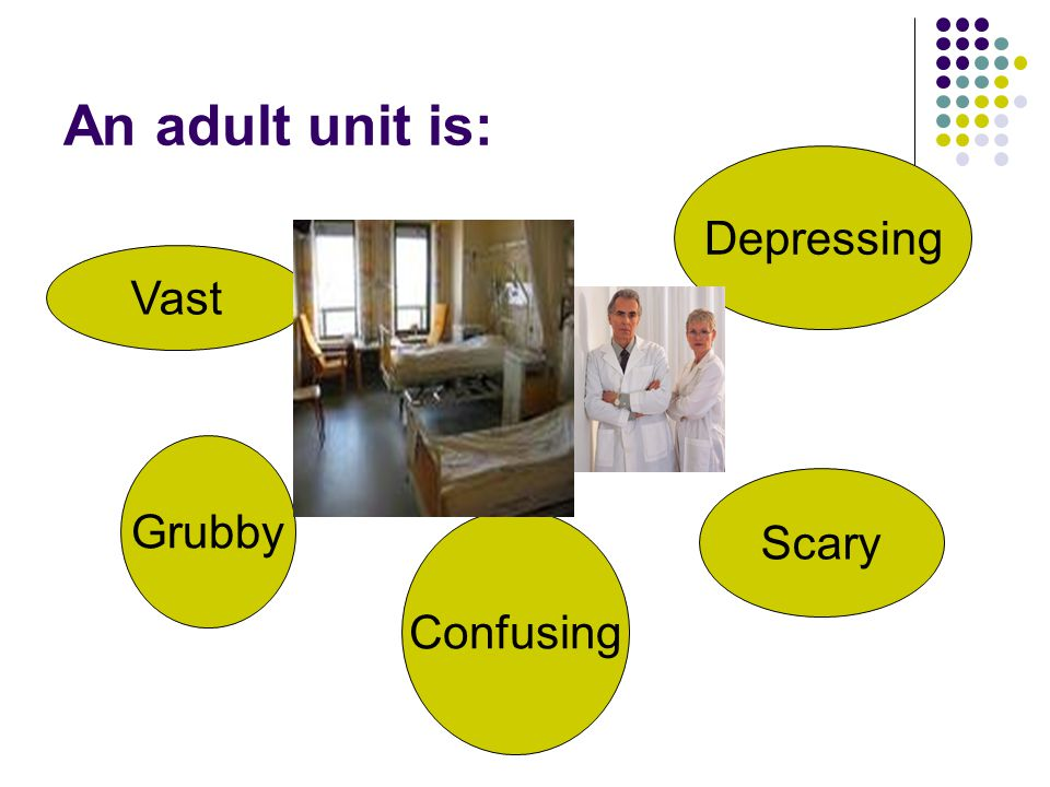 An adult unit is: Depressing Vast Grubby Scary Confusing