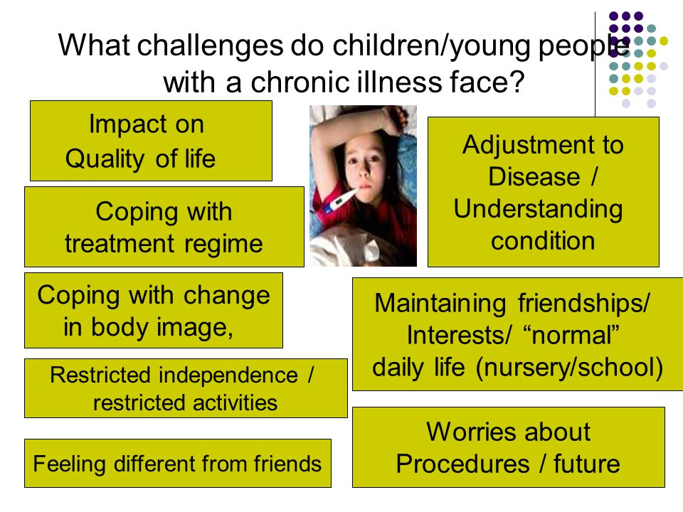 What challenges do children/young people with a chronic illness face