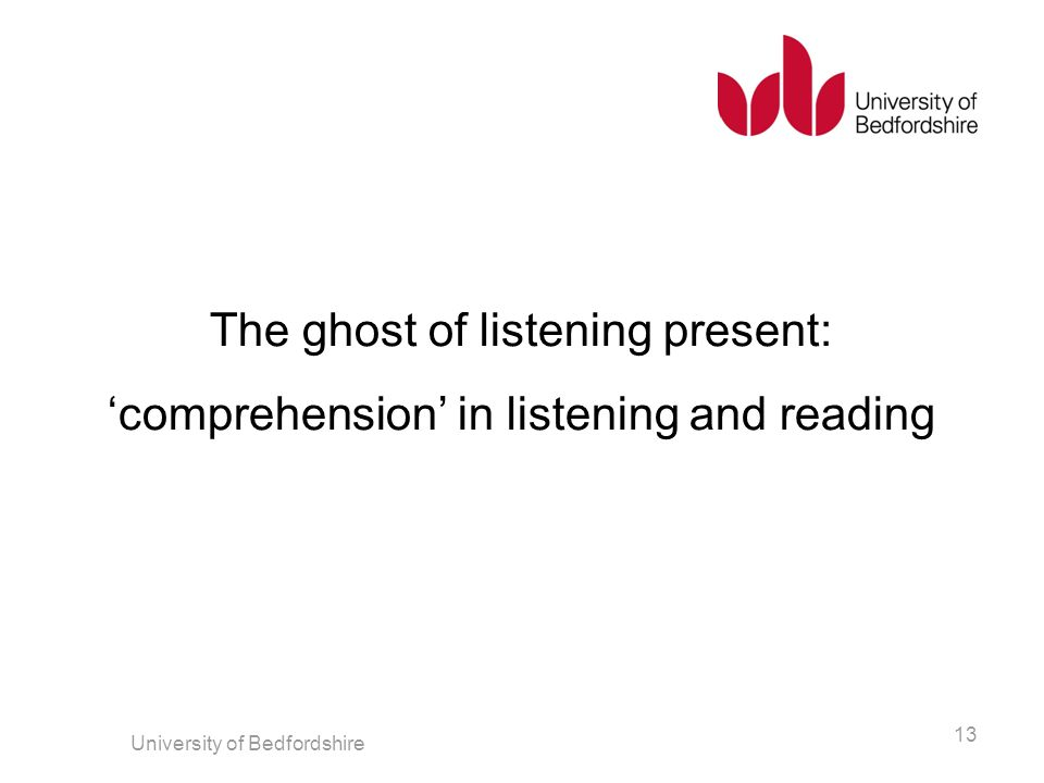 The ghost of listening present: 'comprehension' in listening and reading
