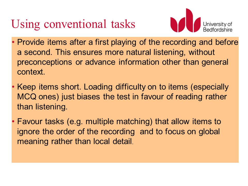 Using conventional tasks