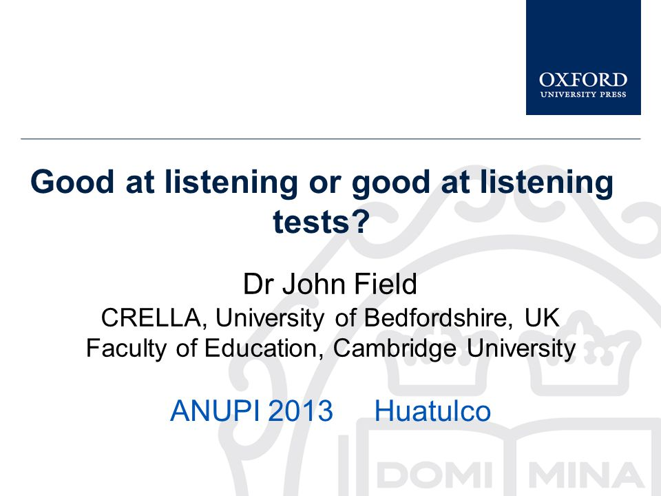 Good at listening or good at listening tests