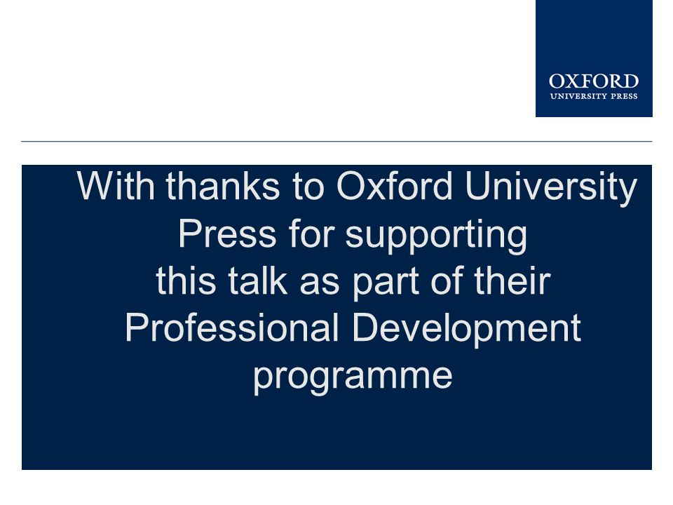 this talk as part of their Professional Development programme