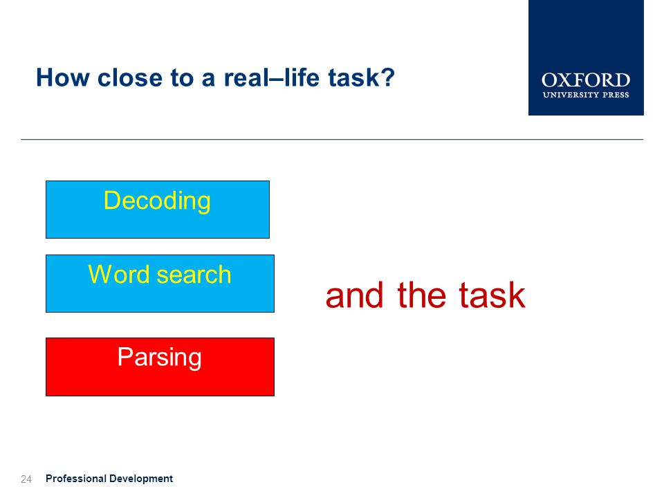 How close to a real–life task