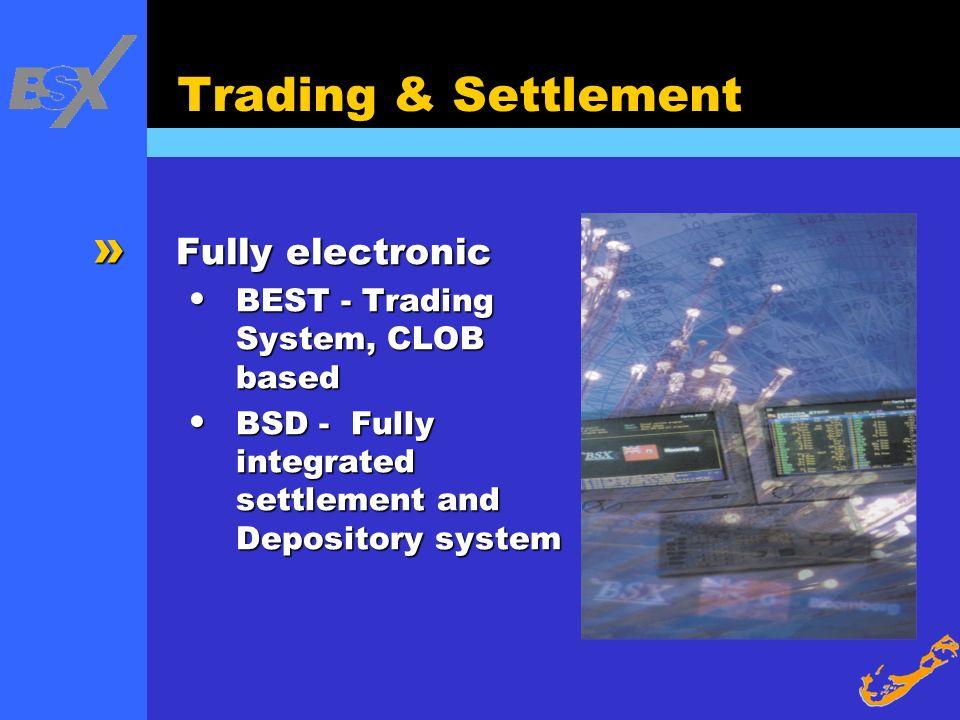 Trading & Settlement Fully electronic