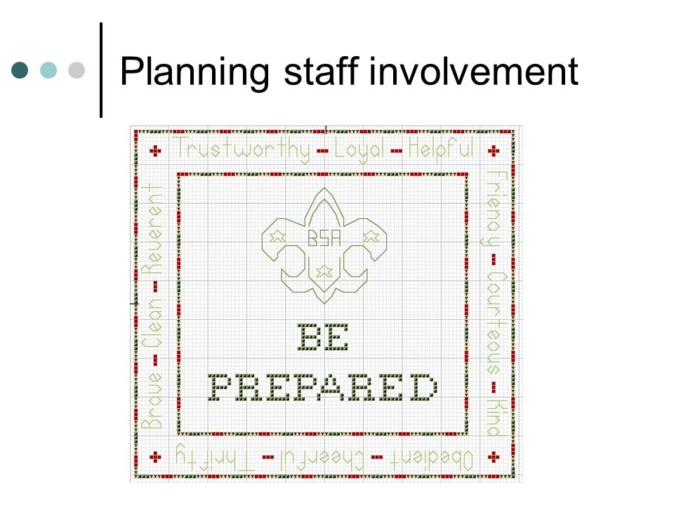 Planning staff involvement