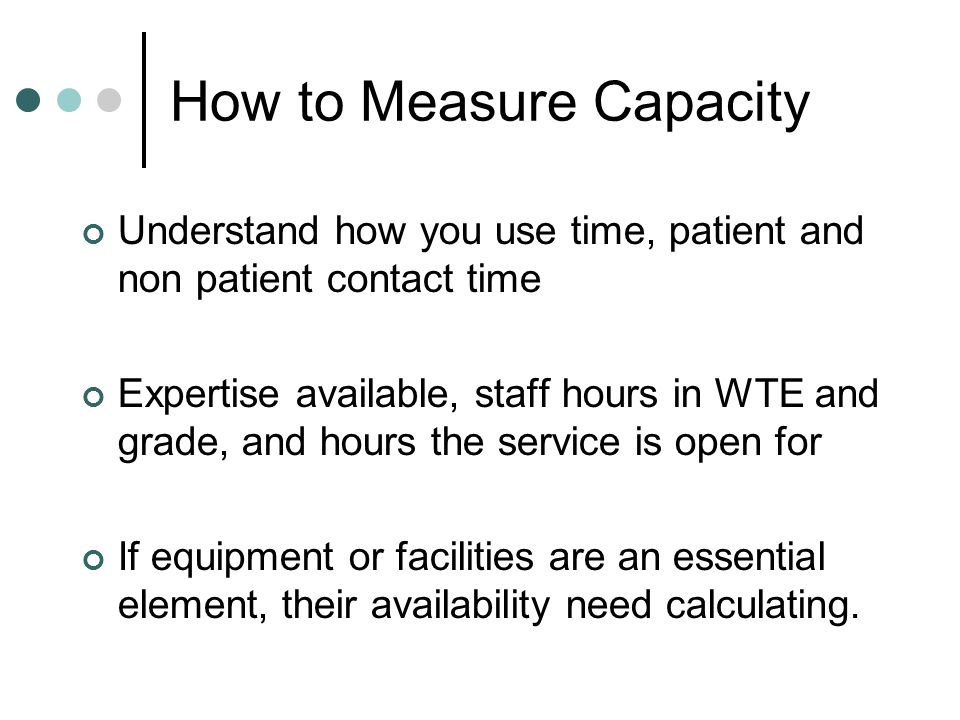 How to Measure Capacity