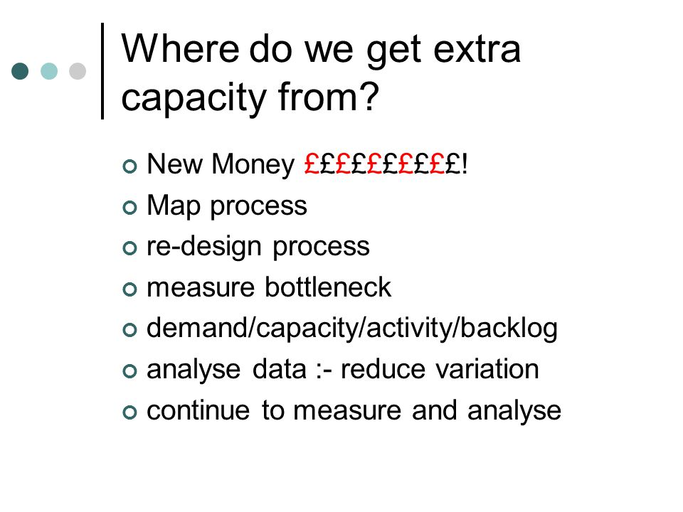 Where do we get extra capacity from