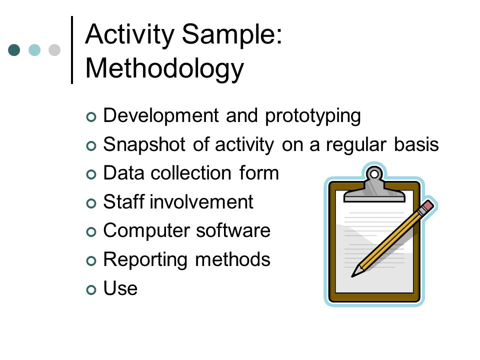 Activity Sample: Methodology
