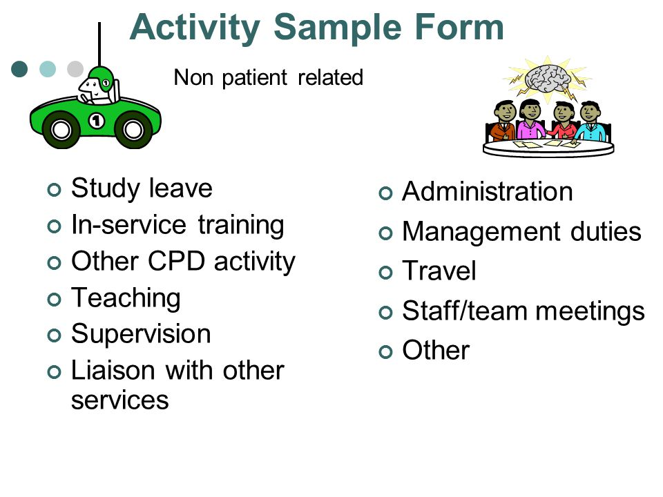Activity Sample Form Study leave In-service training