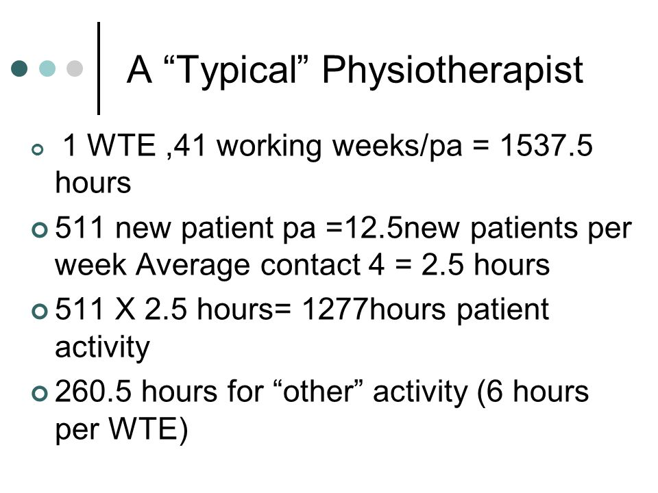 A Typical Physiotherapist