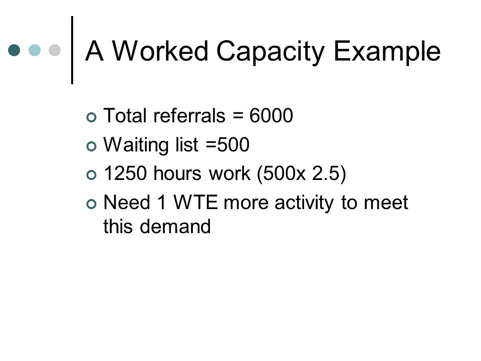 A Worked Capacity Example