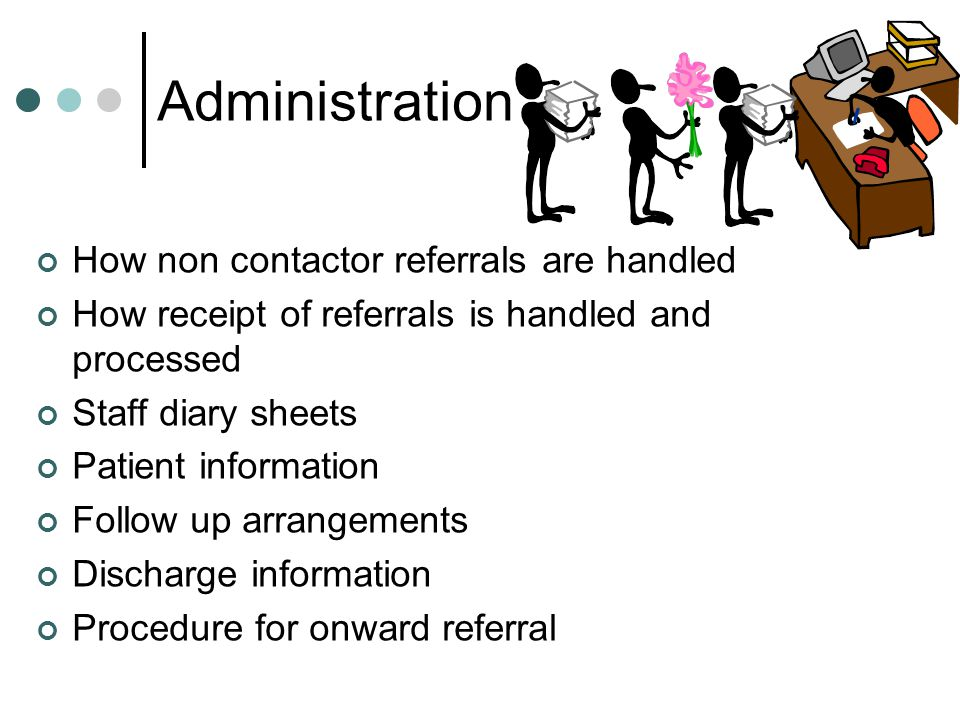 Administration How non contactor referrals are handled