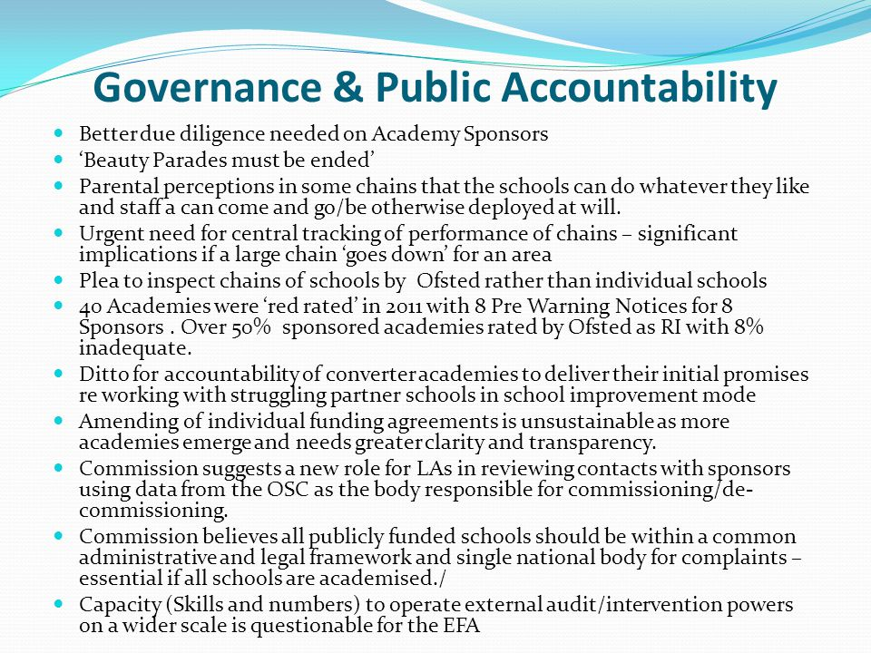 Governance & Public Accountability