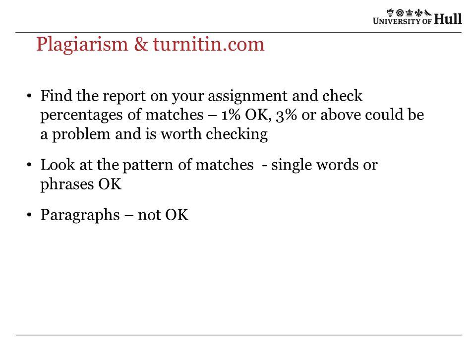 Plagiarism & turnitin.com