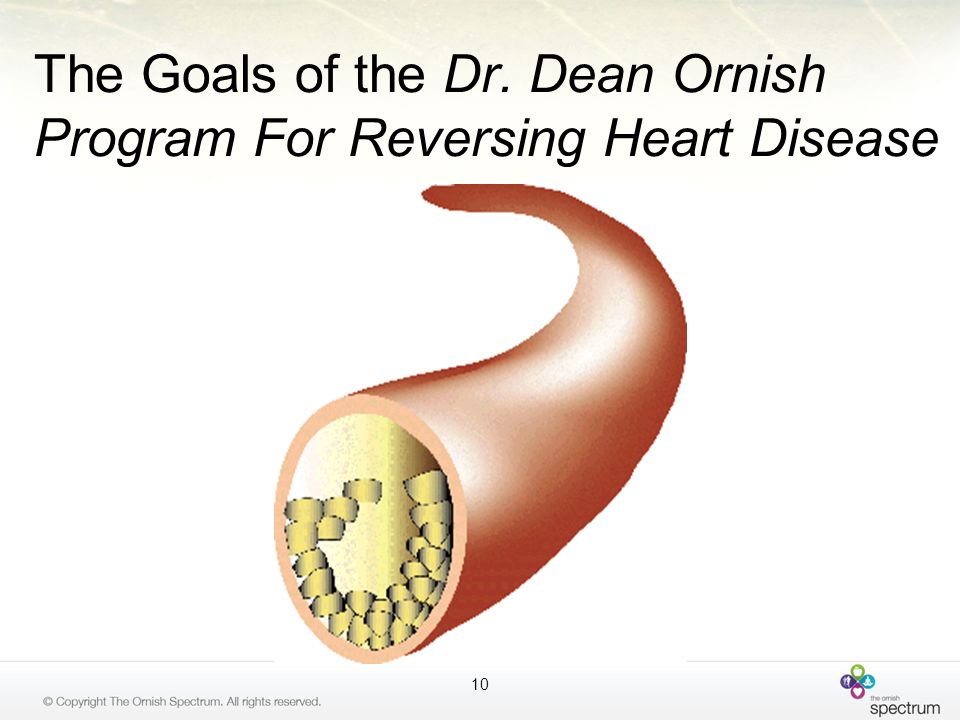 The Goals of the Dr. Dean Ornish Program For Reversing Heart Disease