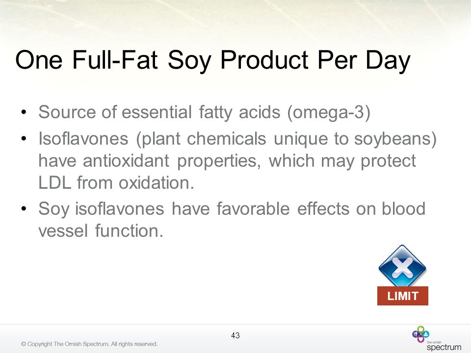 One Full-Fat Soy Product Per Day