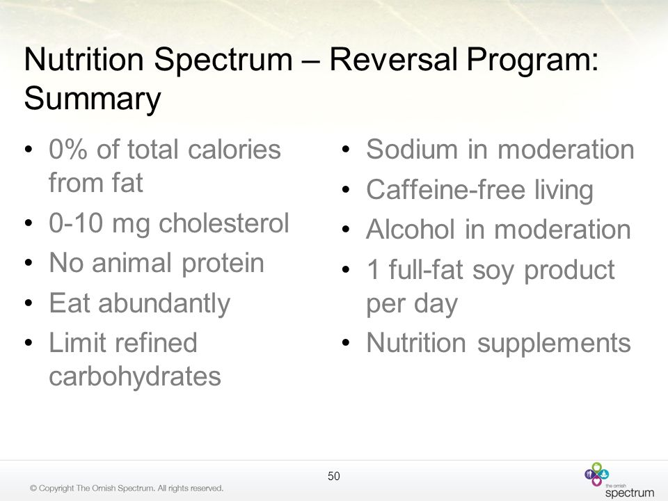 Nutrition Spectrum – Reversal Program: Summary