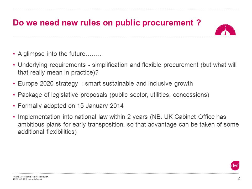 Do we need new rules on public procurement