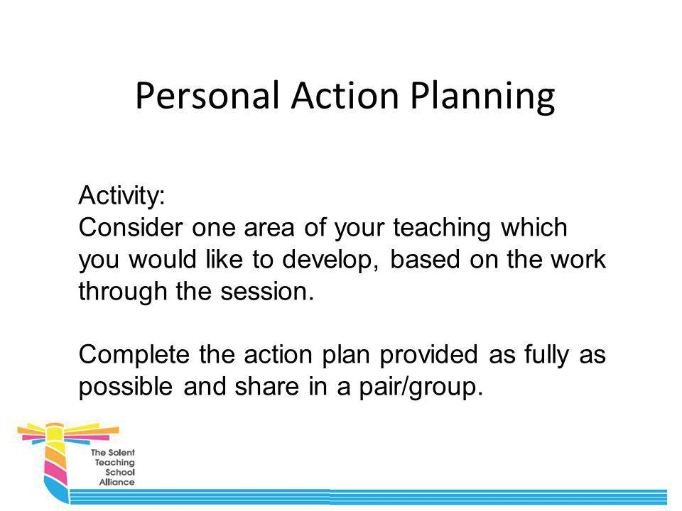 Personal Action Planning