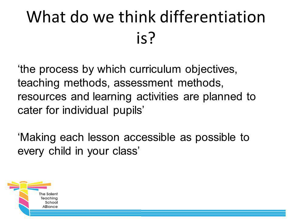 What do we think differentiation is