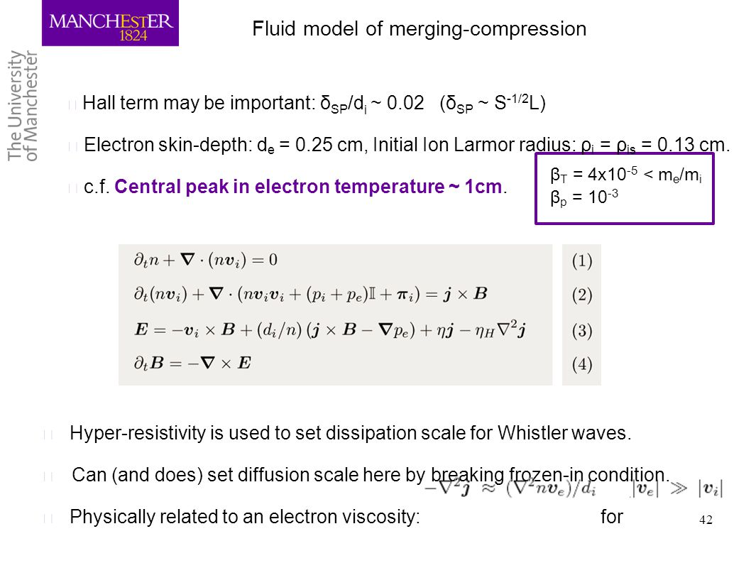 Fluid model of merging-compression