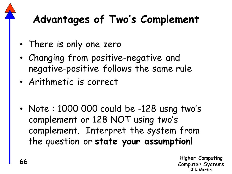 Advantages of Two's Complement