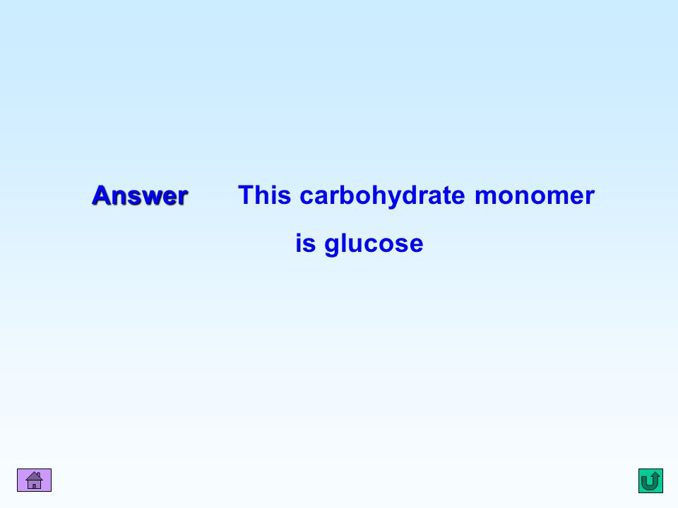 Answer This carbohydrate monomer is glucose