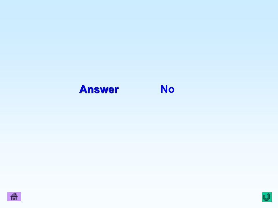Q15 Answer No