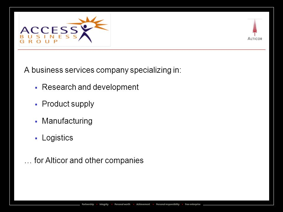 A business services company specializing in: