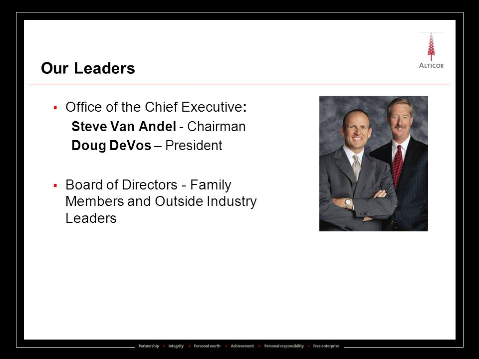 Our Leaders Office of the Chief Executive: