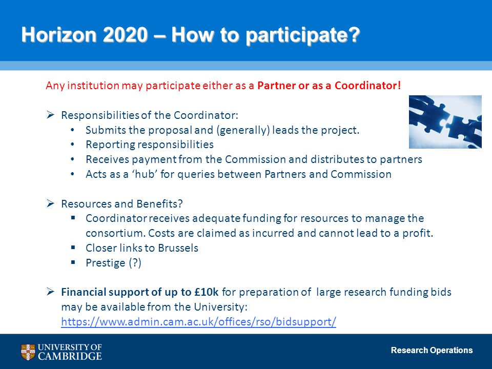 Horizon 2020 – How to participate