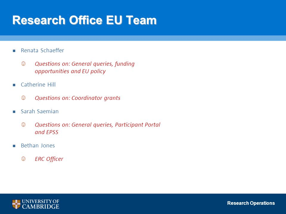Research Office EU Team