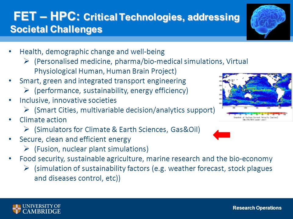 FET – HPC: Critical Technologies, addressing Societal Challenges