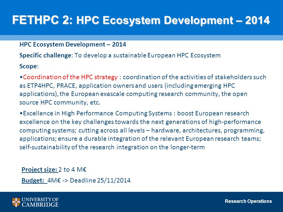 FETHPC 2: HPC Ecosystem Development – 2014