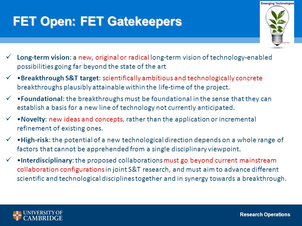 FET Open: FET Gatekeepers