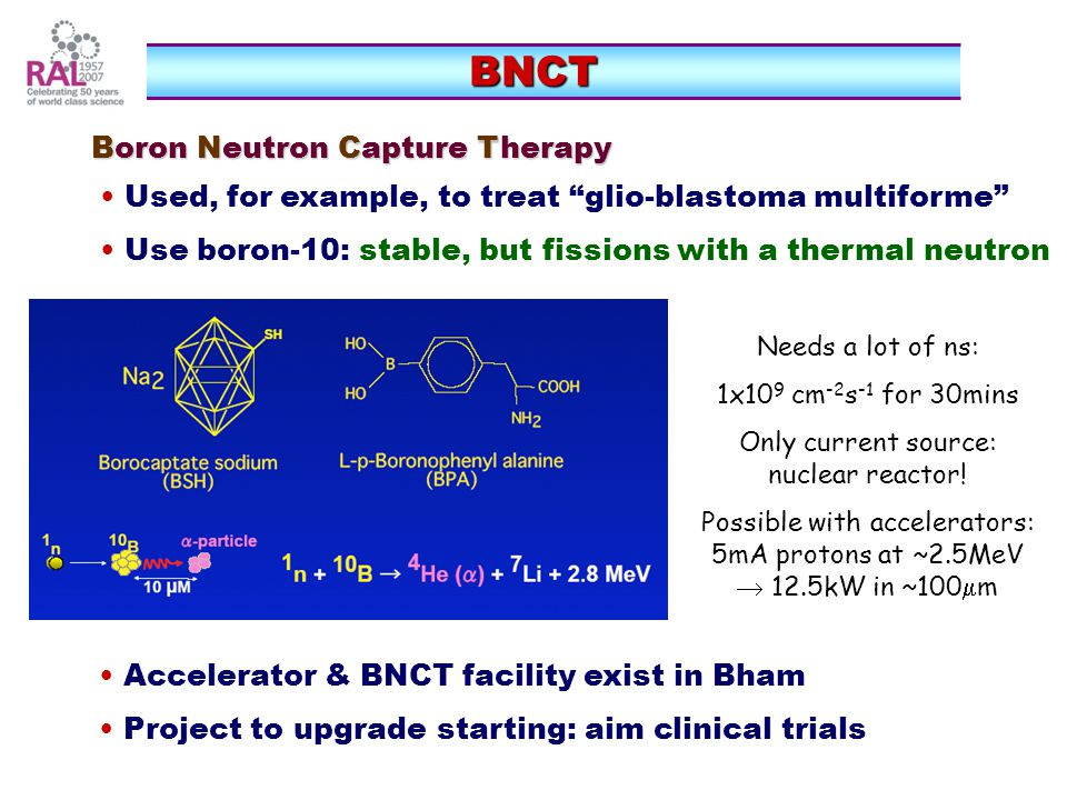 BNCT Boron Neutron Capture Therapy