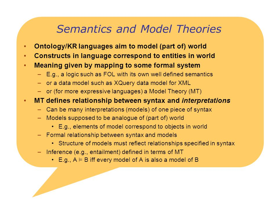 Semantics and Model Theories