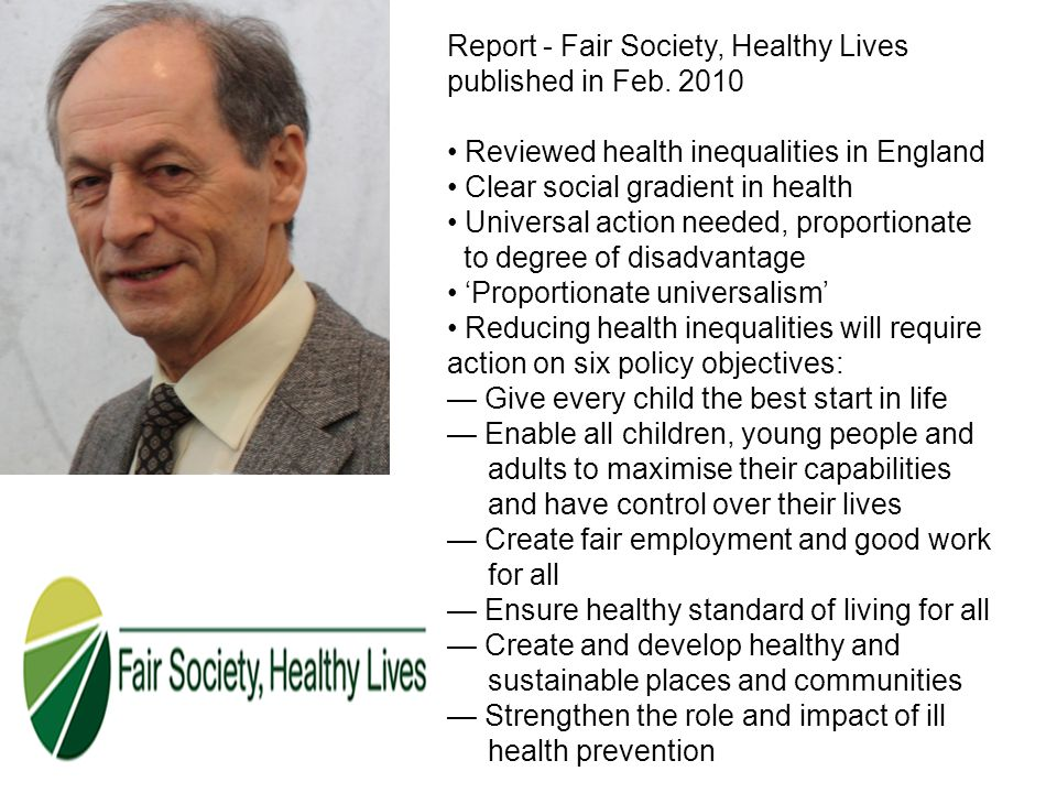 Report - Fair Society, Healthy Lives