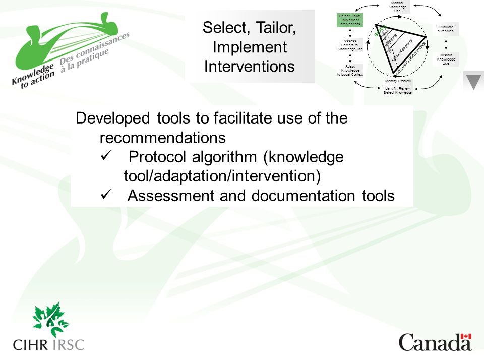 Developed tools to facilitate use of the recommendations